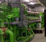 The two GE Jenbacher J624 CHP systems can provide 8.7 MW of power or enough to supply the energy for 8,800 homes.